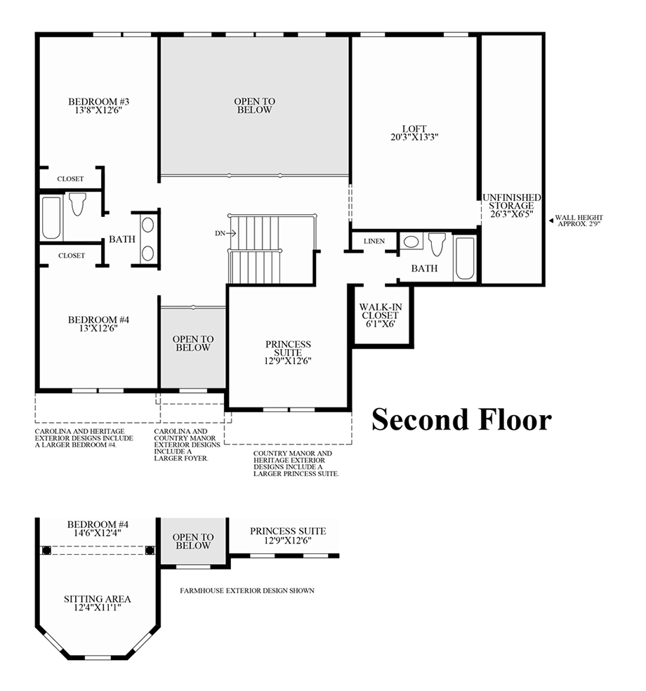 Preserve at marvin the raleigh ii home design for North carolina home plans