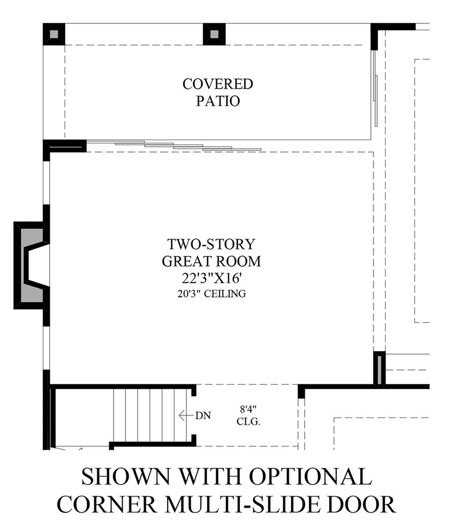 Optional Corner Multi-Slide Door Floor Plan