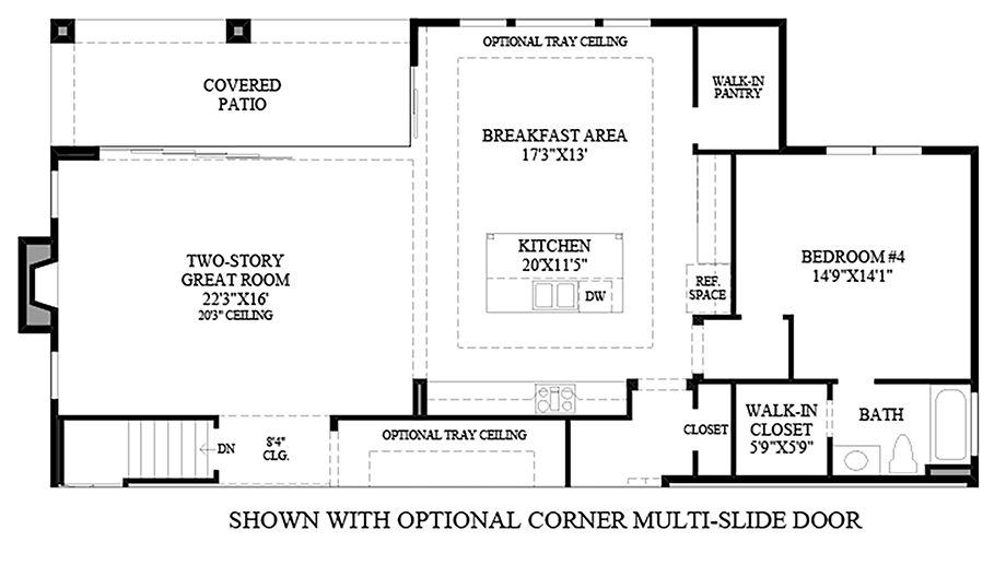 Optional Corner Multi-Slide Door Floor Plan
