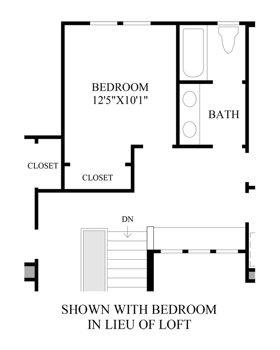 Optional Bedroom In Lieu Of Loft
