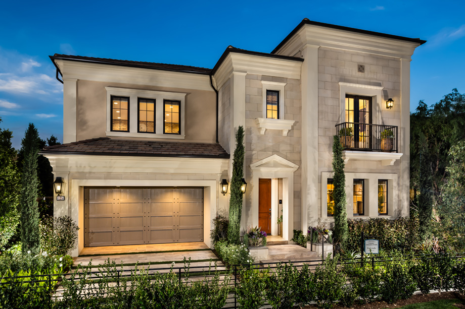 Toll brothers at hidden canyon capri collection the for Classic house fronts