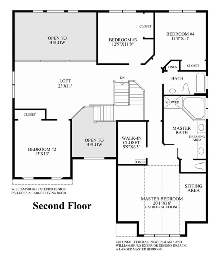 2nd floor floor plan for 101 richmond floor plans