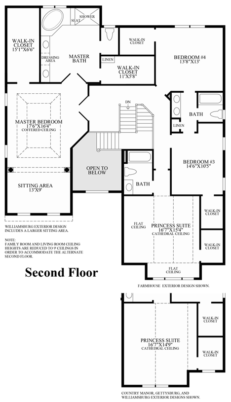 American homes floor plans for Richmond homes ranch floor plans