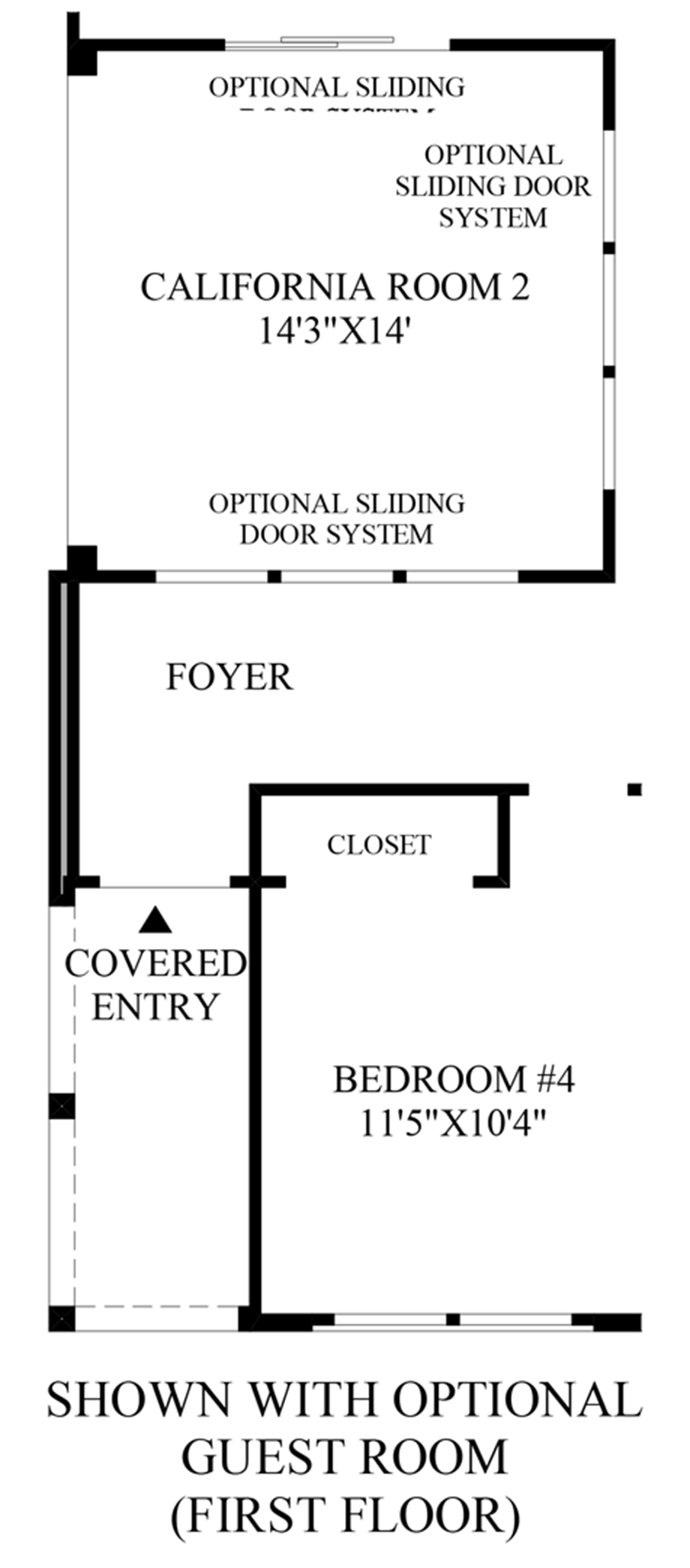 Optional Guest Room (First Floor) Floor Plan