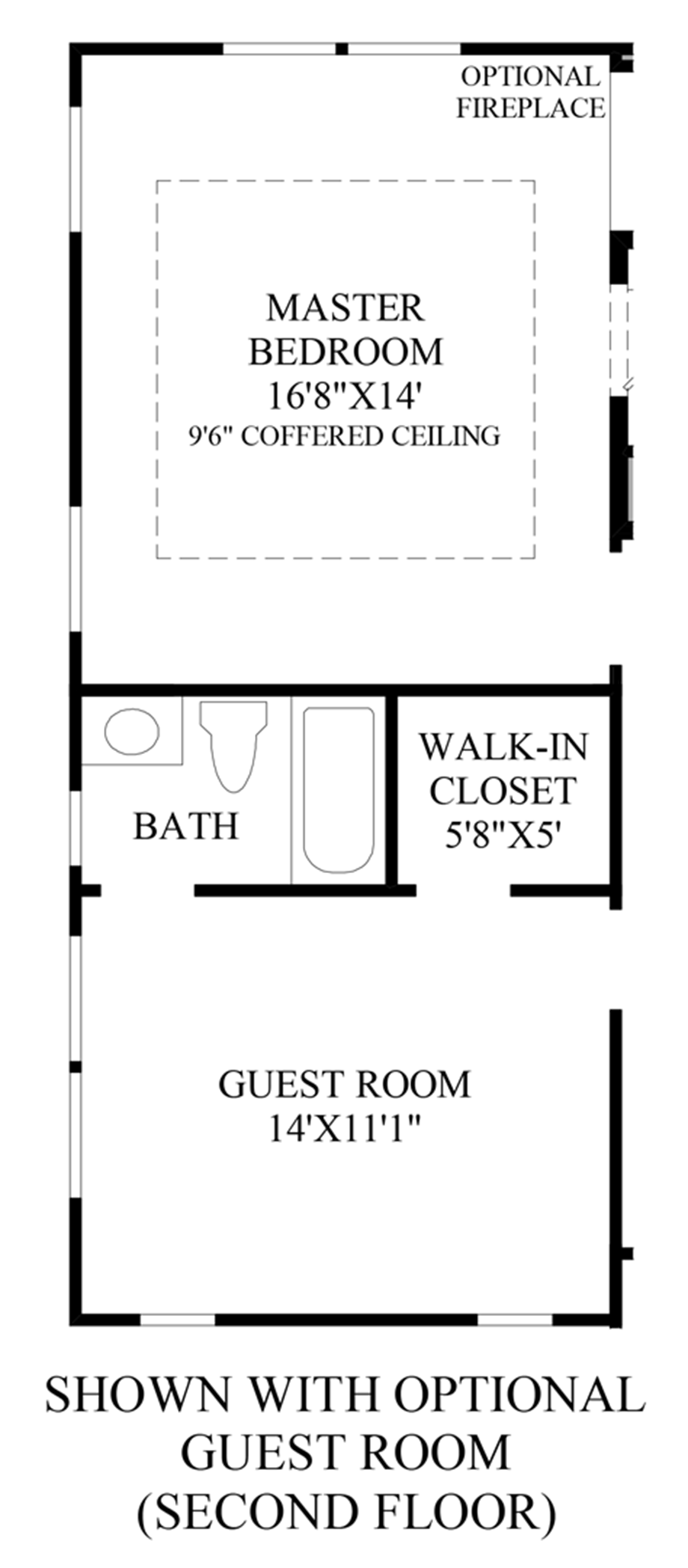 Optional Guest Room (Second Floor) Floor Plan