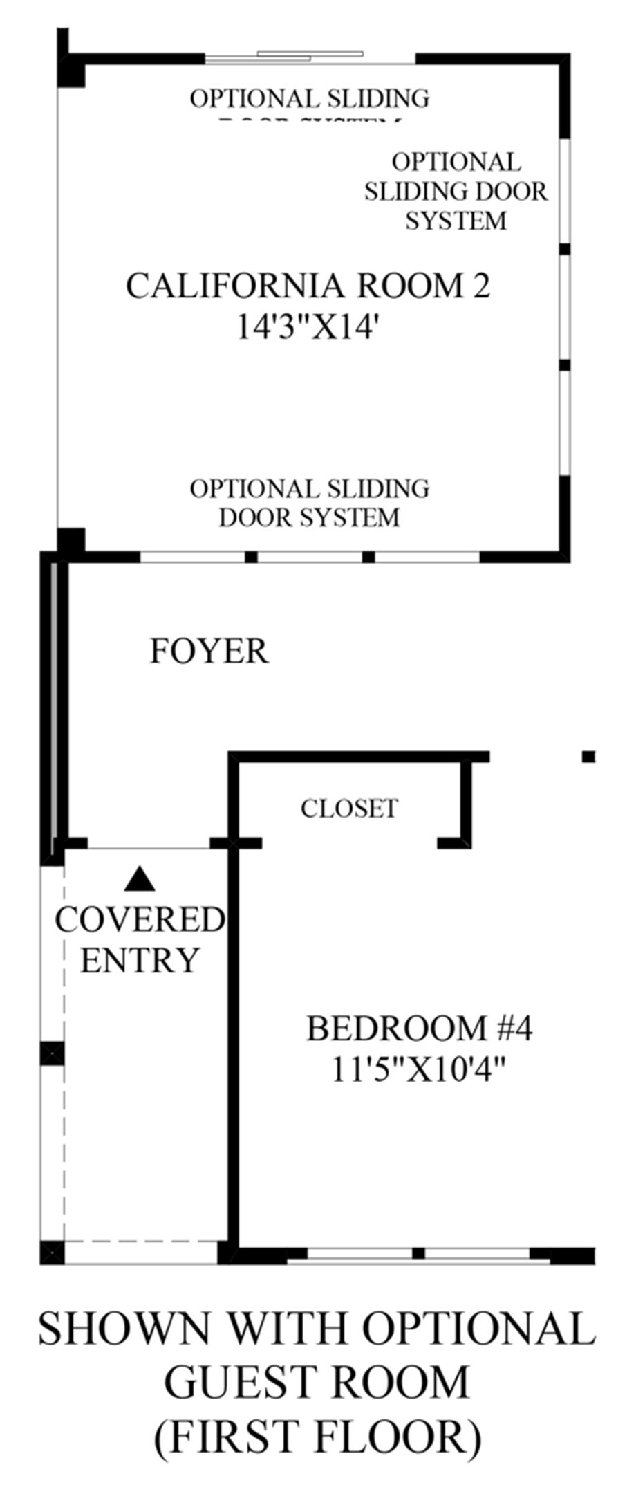 Optional Guest Room (First Floor) Floor Plan