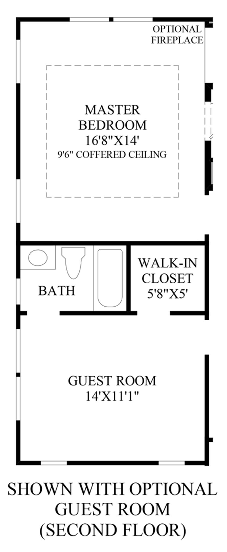 Optional Guest Room (Second Floor) Floor Plan