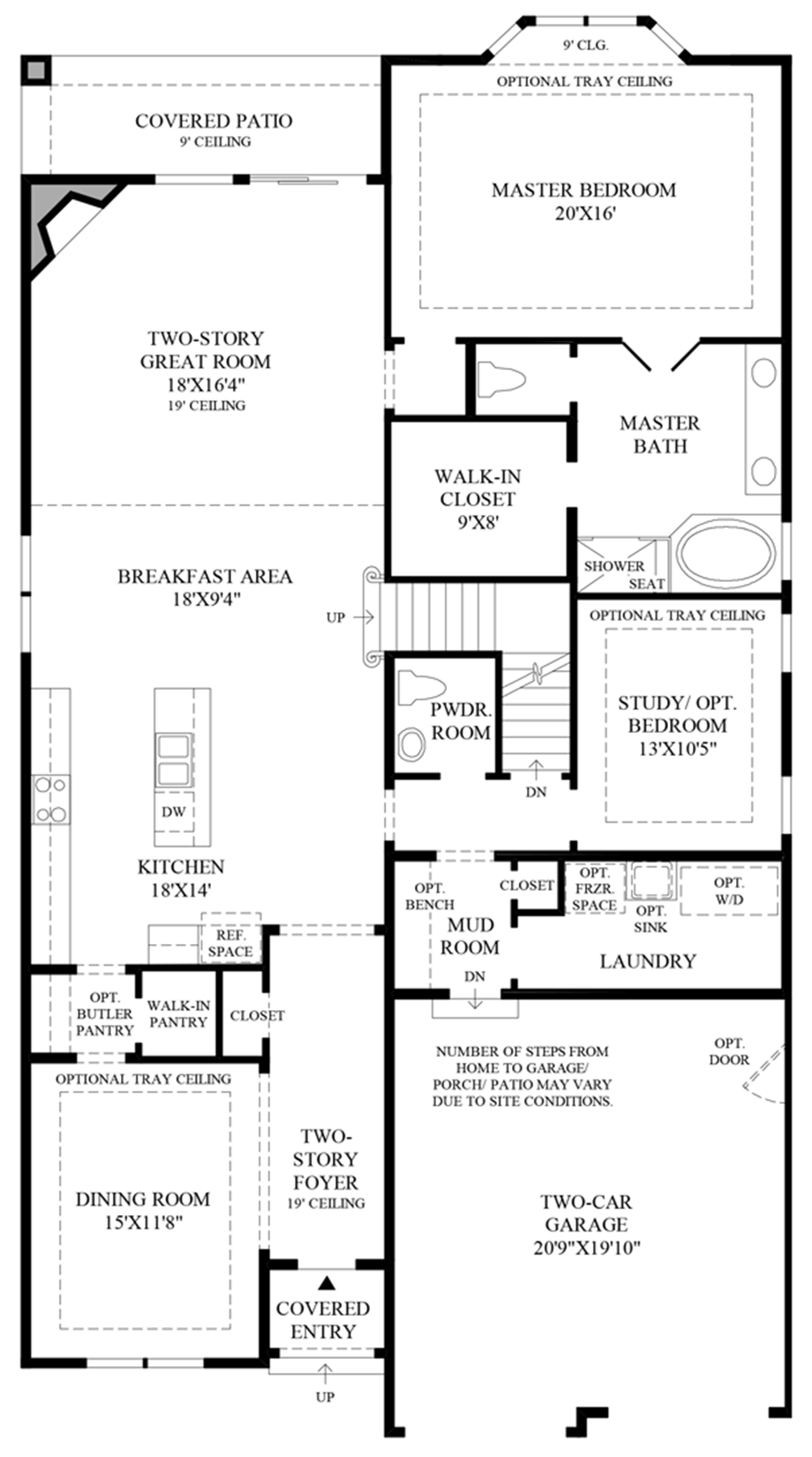 Bay Window in Master Floor Plan