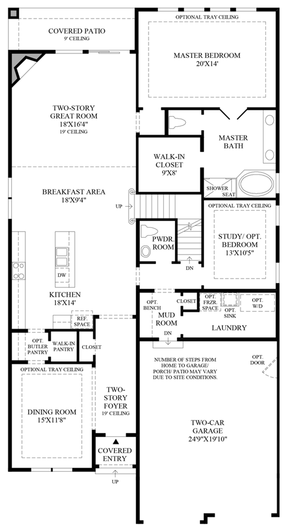 Expanded Garage Floor Plan