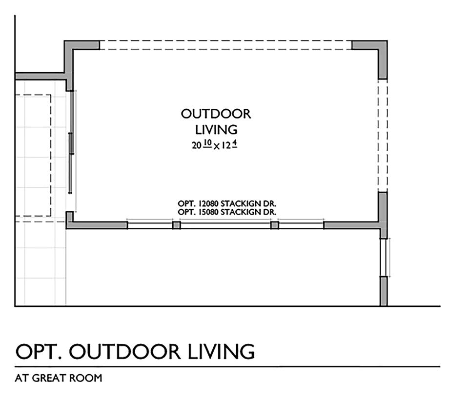 Optional Outdoor Living Floor Plan