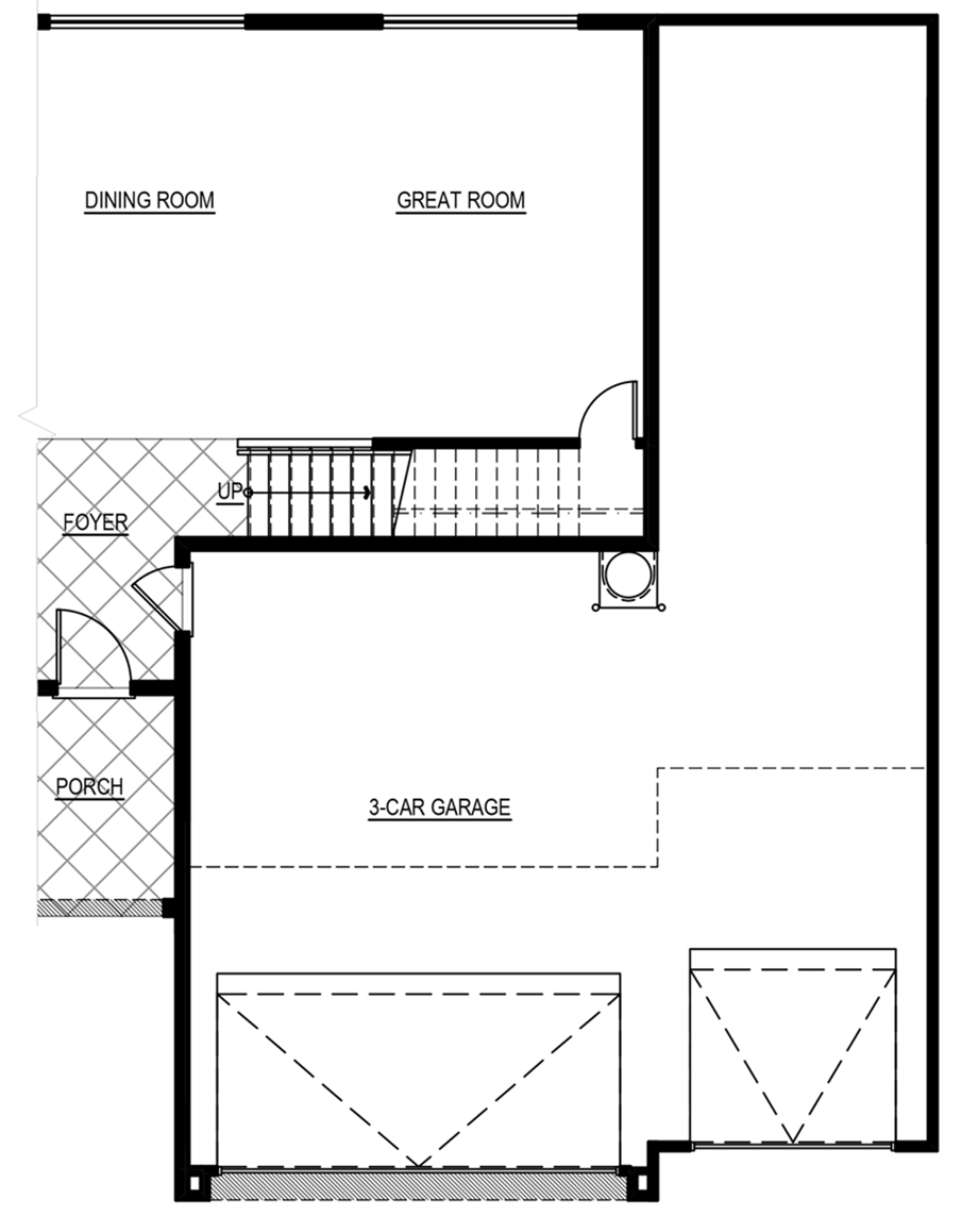 Optional 4-Car Garage w/ 3 ft. Increase Floor Plan