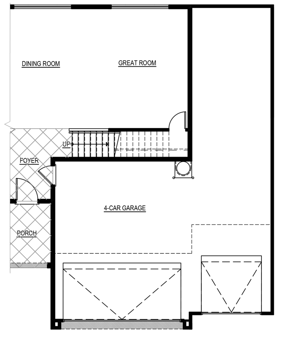 Optional 4-Car Garage Floor Plan