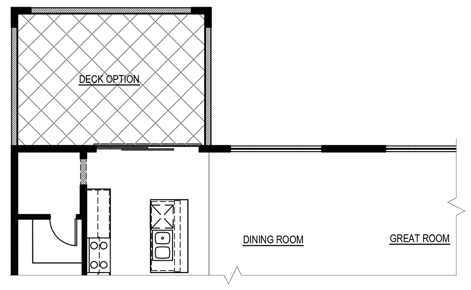 Optional Deck Floor Plan
