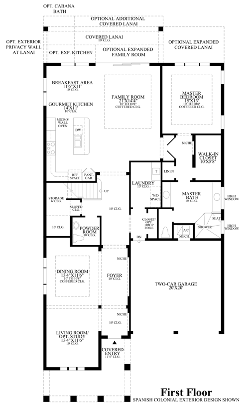 spanish colonial floor plans colonial floor plans 22104