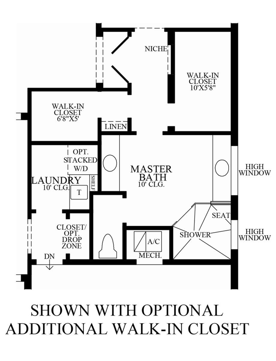 Optional Additional Walk-In Closet Floor Plan