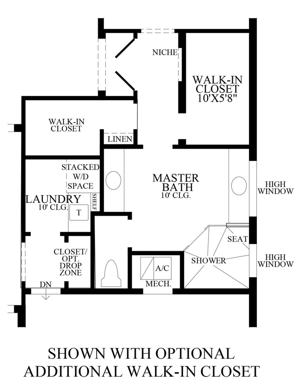 Optional Additional Walk-In Closet Floor Plan