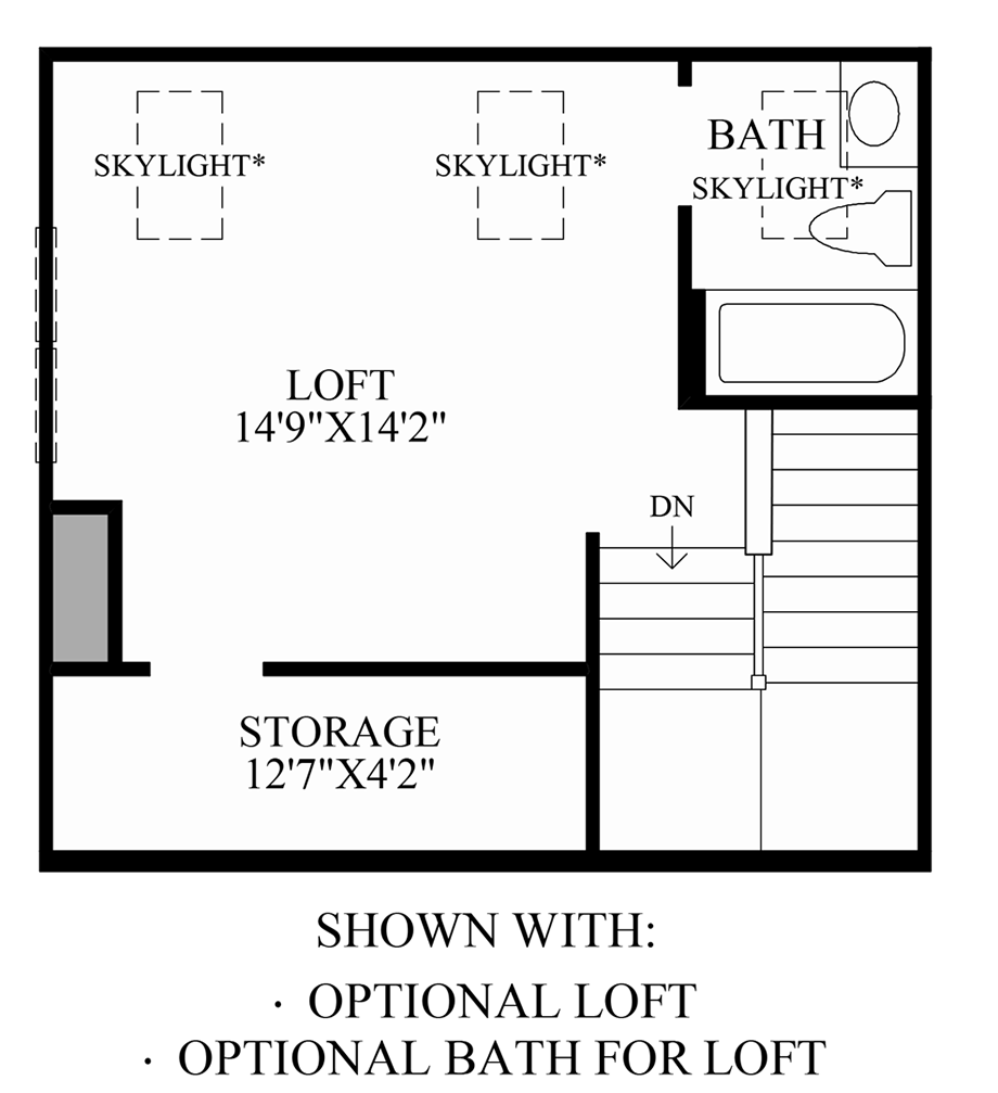 Optional Loft & Bath for Loft Floor Plan