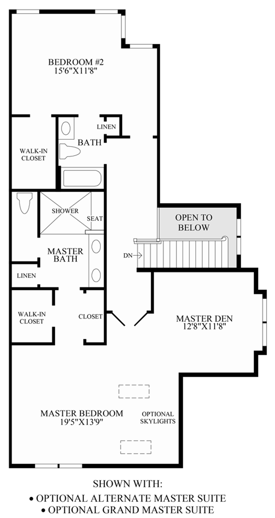Optional Alternate Master Suite & Grand Master Suite Floor Plan