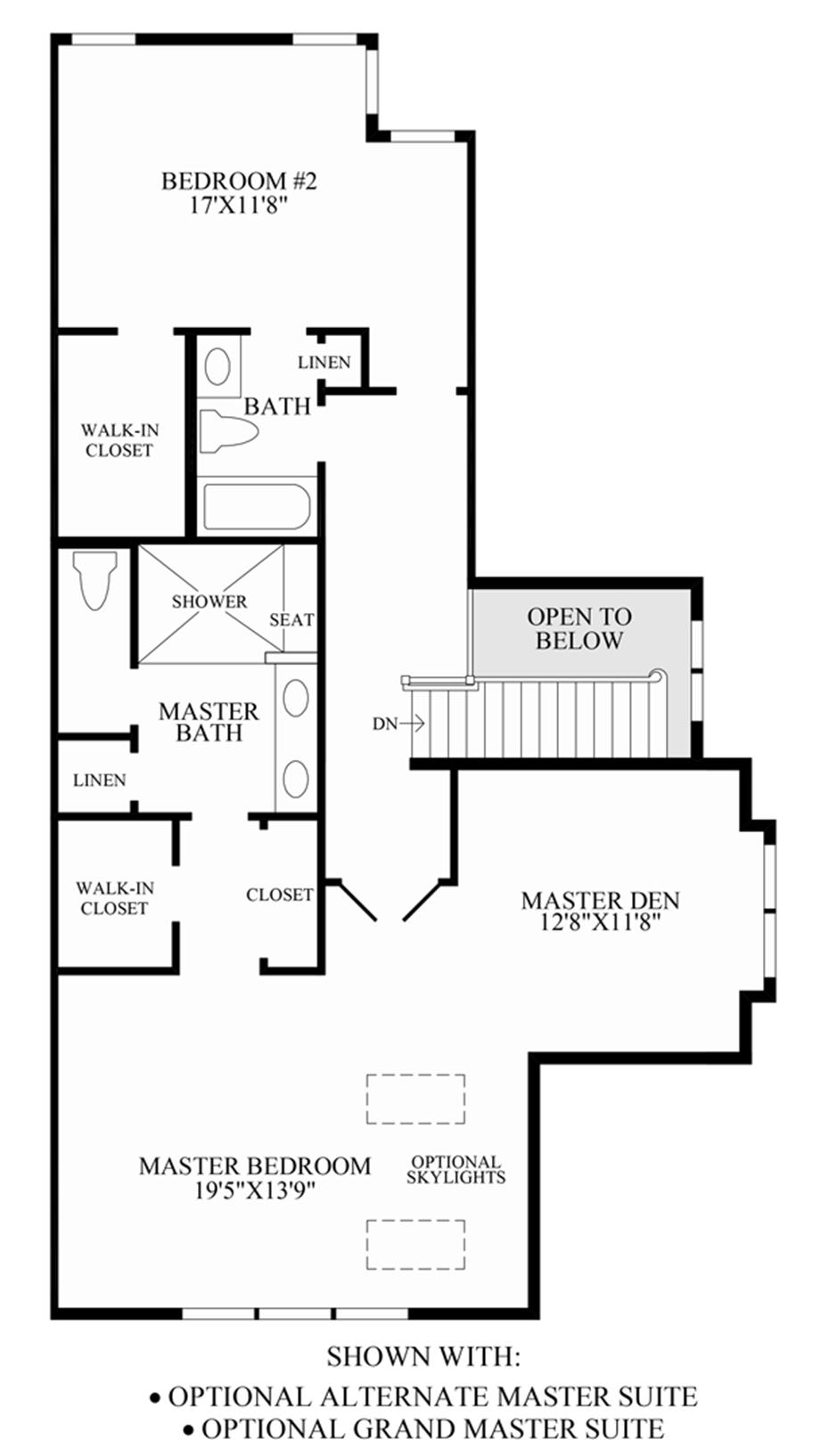 Optional Alternate Master Suite/Grand Master Suite Floor Plan