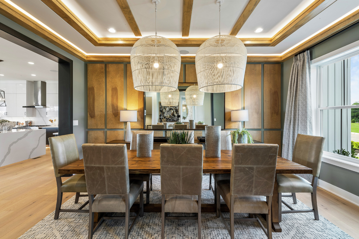 Dining room located off the kitchen