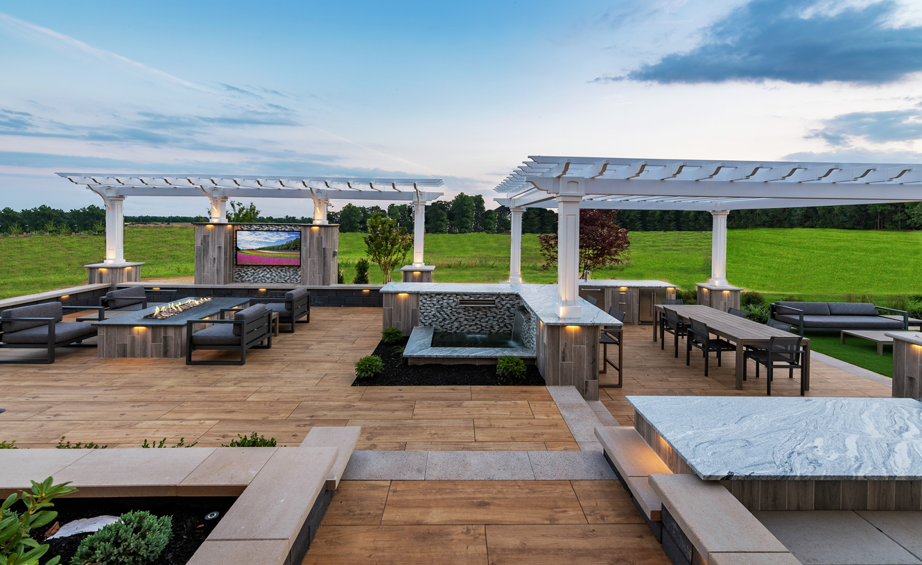 Luxurious outdoor living spaces, great for entertaining