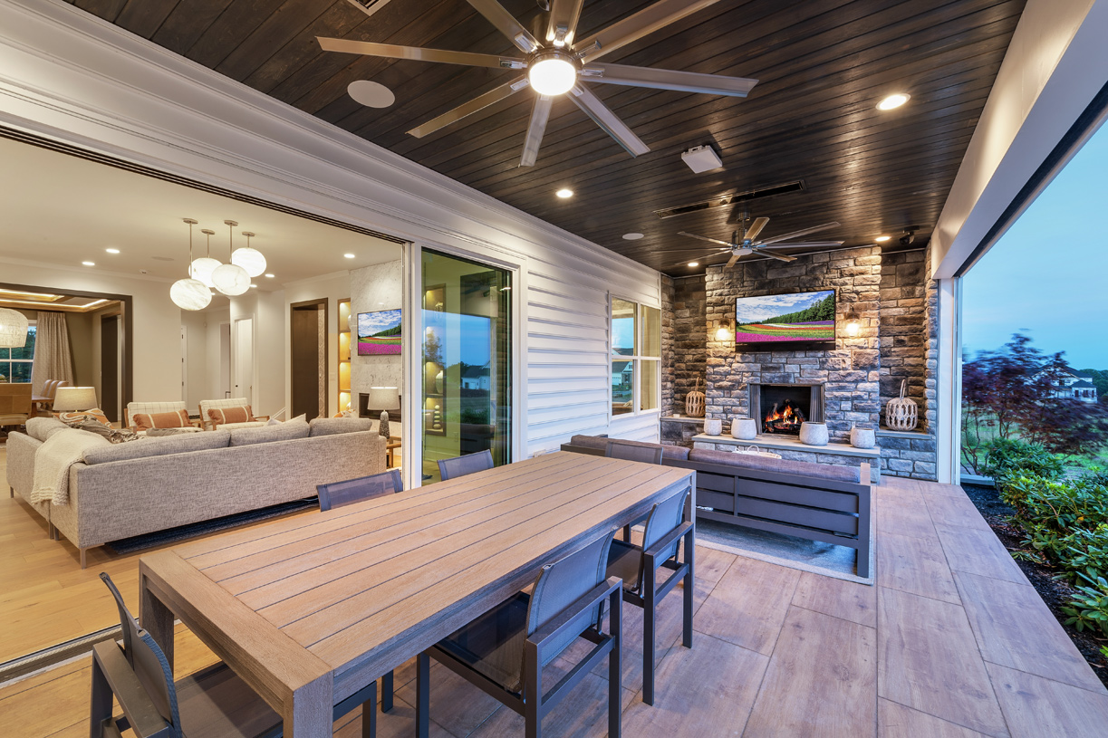 Indoor living blends seamlessly with outdoor living