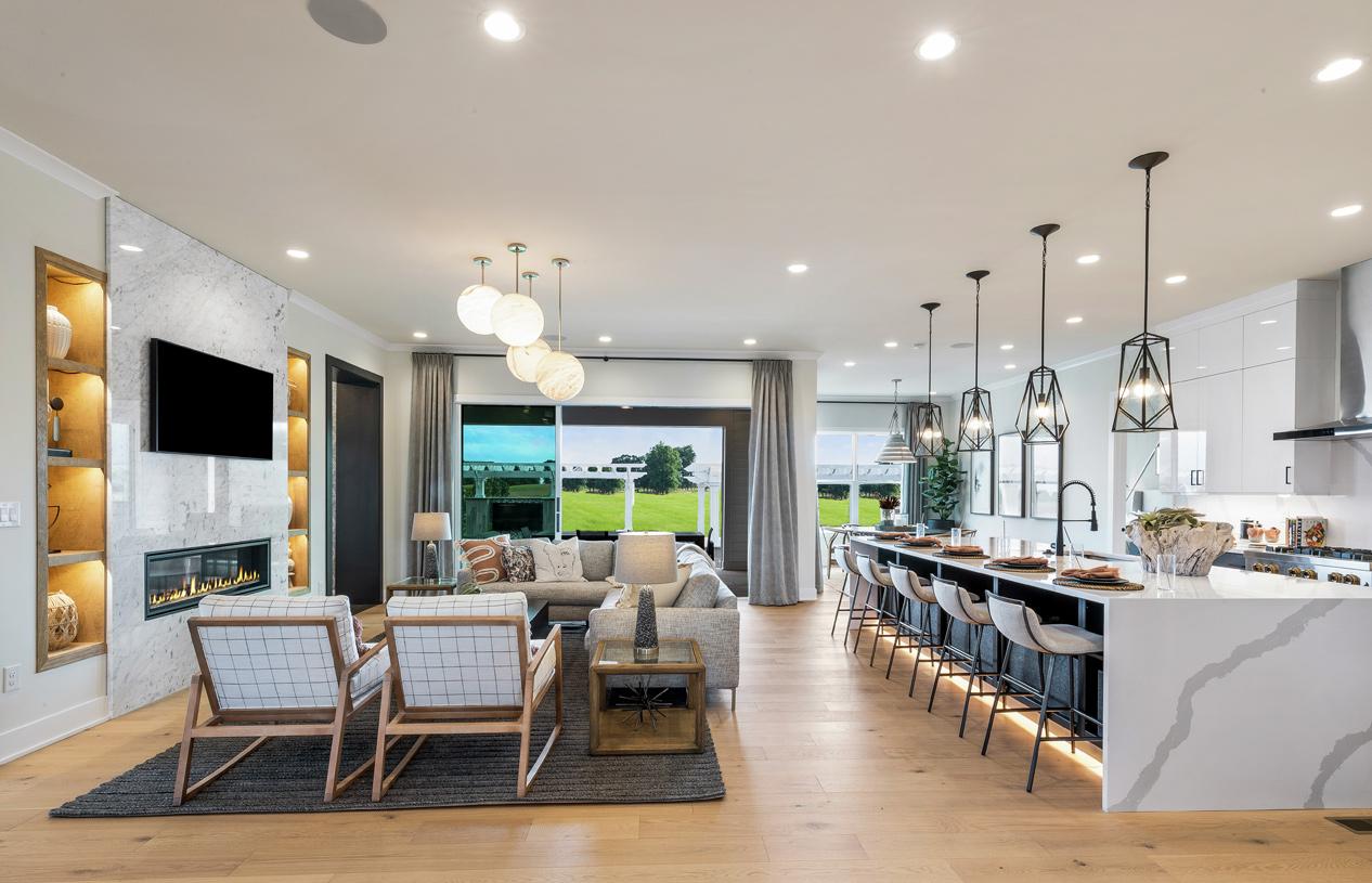 Modern, open floor plan designed for how you live