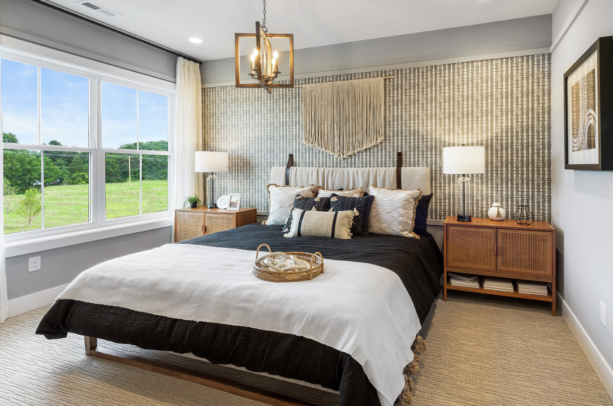 Sizable secondary bedrooms are located on the second floor