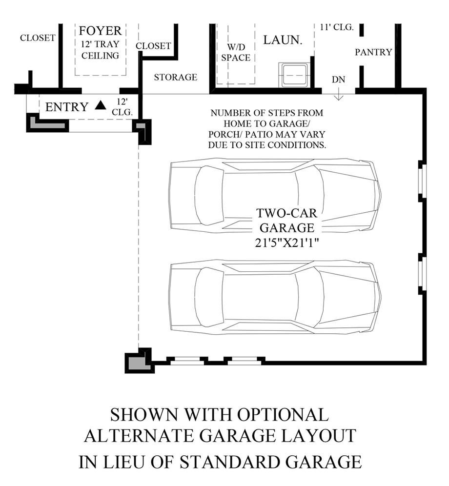 Optional Alternate Garage Layout ILO Standard Garage Floor Plan