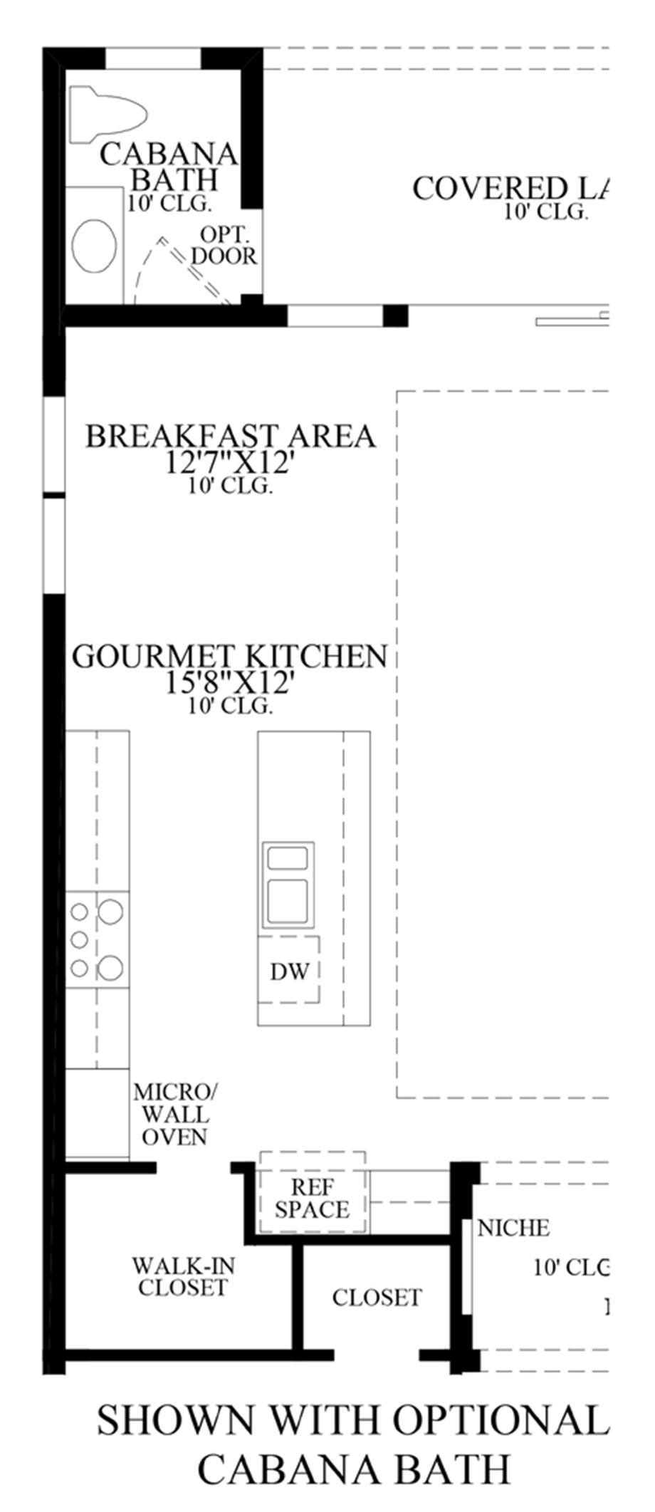 Optional Cabana Bath Floor Plan