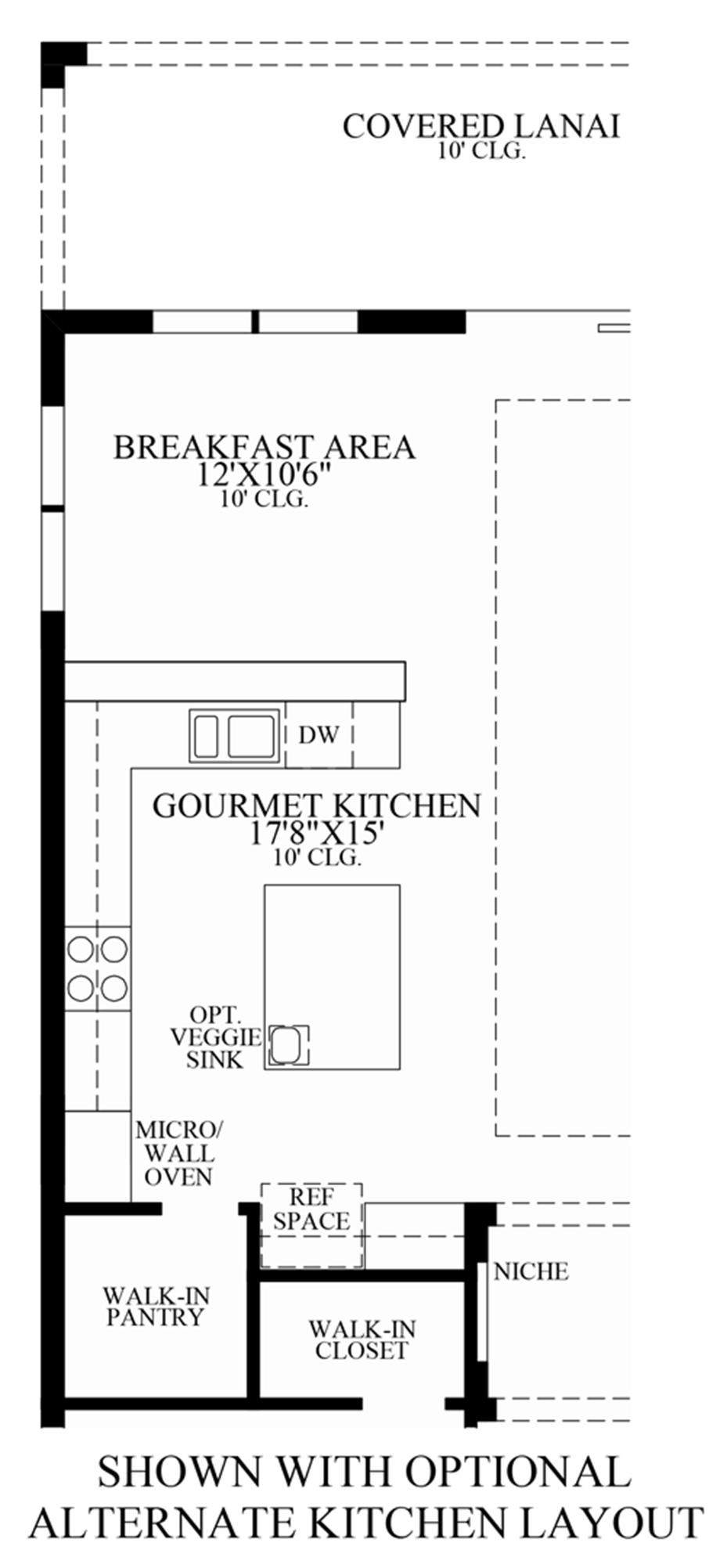 Optional Alternate Kitchen Layout Floor Plan