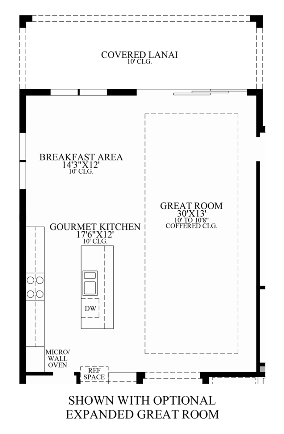 Optional Expanded Great Room Floor Plan