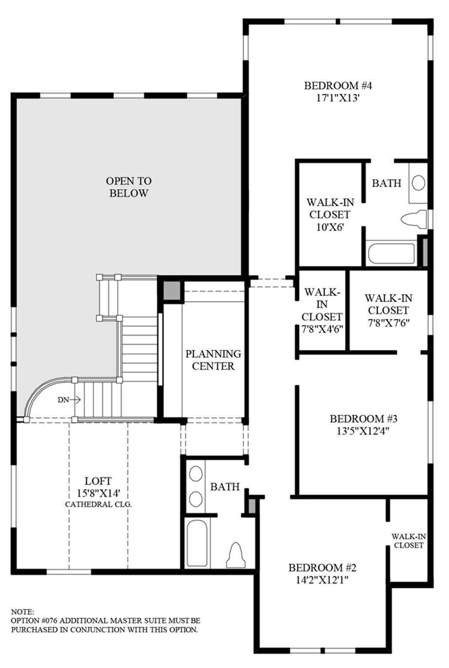 Alternate 2nd Floor Floor Plan