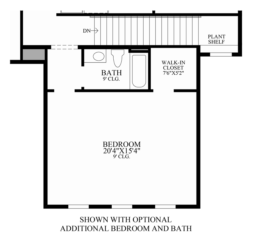Optional Additional Bedroom and Bath Floor Plan