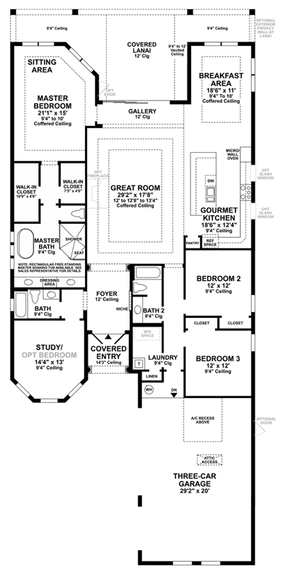 Jupiter country club golf villas the salerno home design for House plans for golf course lots
