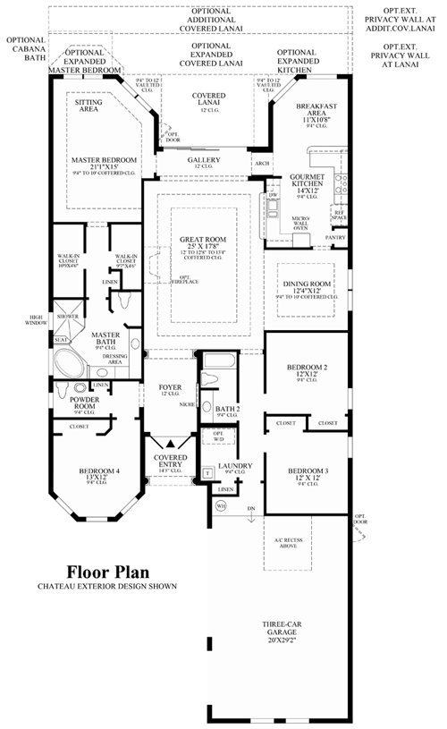 Wci parkland golf and country club floor plans for Golf course house plans