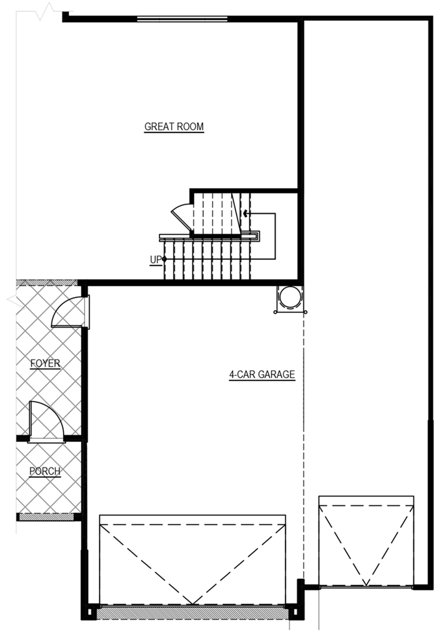 Optional 4-Car Garage w/ 6 ft. Increase Floor Plan
