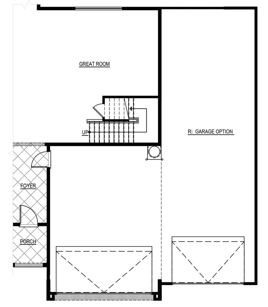 Optional RV Garage Floor Plan
