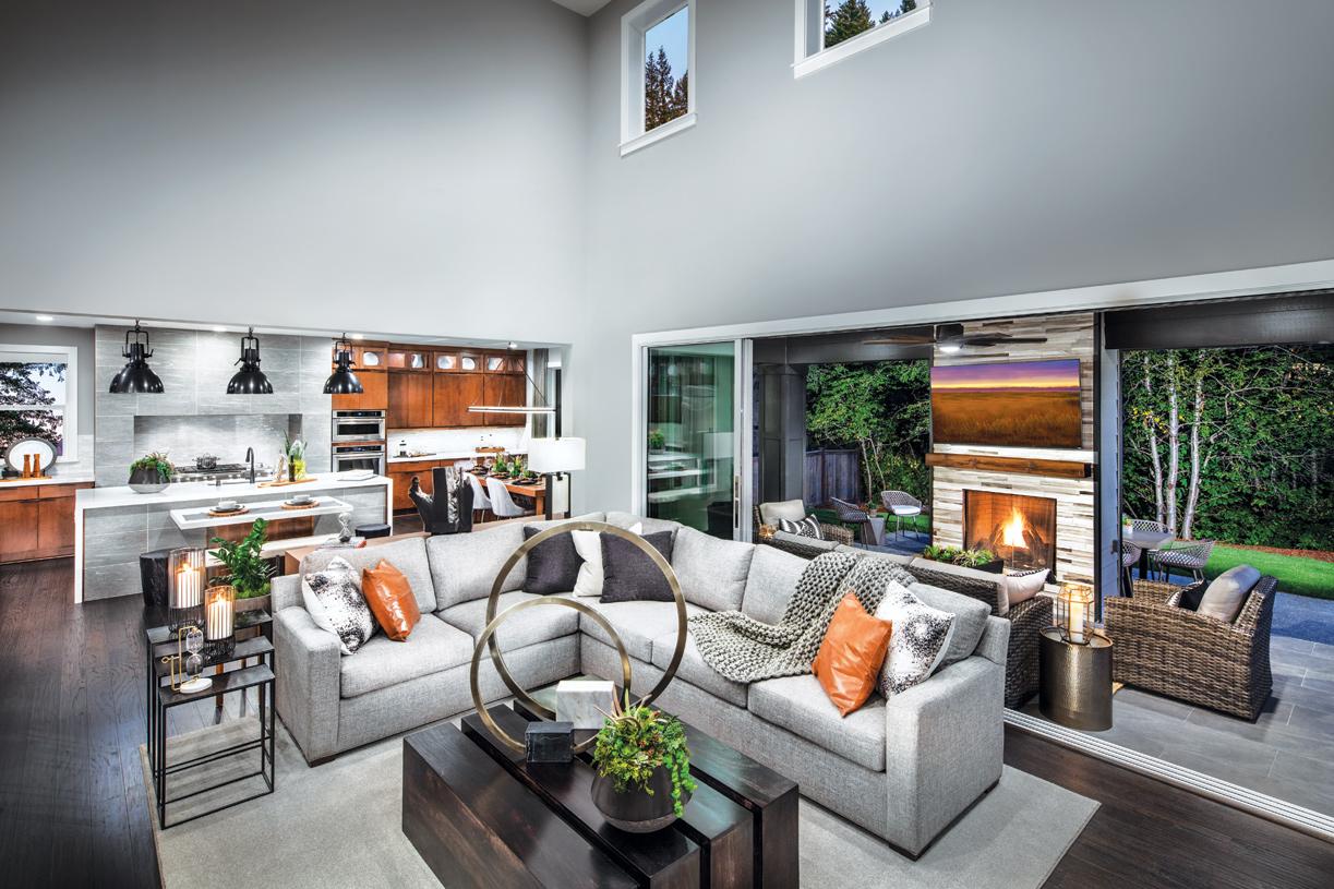 Open floor plan makes entertaining a breeze