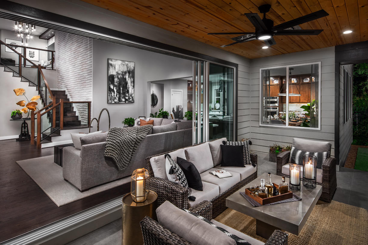 Seamless indoor/outdoor living may be available