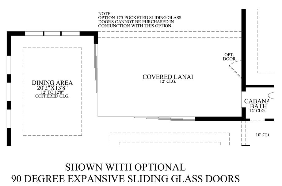 Optional 90 Degree Expansive Sliding Glass Doors Floor Plan