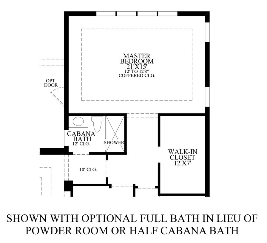 Optional Full Bath ILO Powder Room or Half Cabana Bath