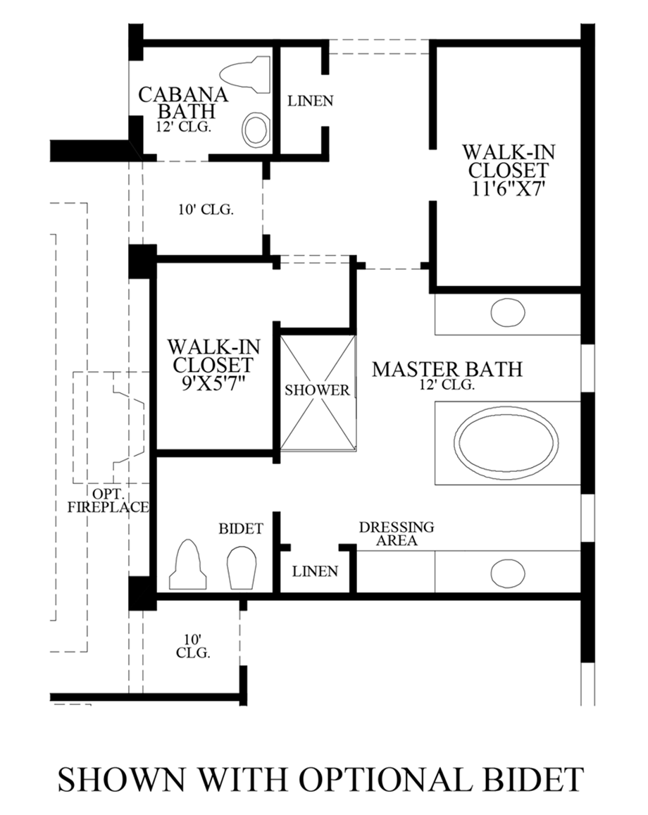 Optional Bidet Floor Plan