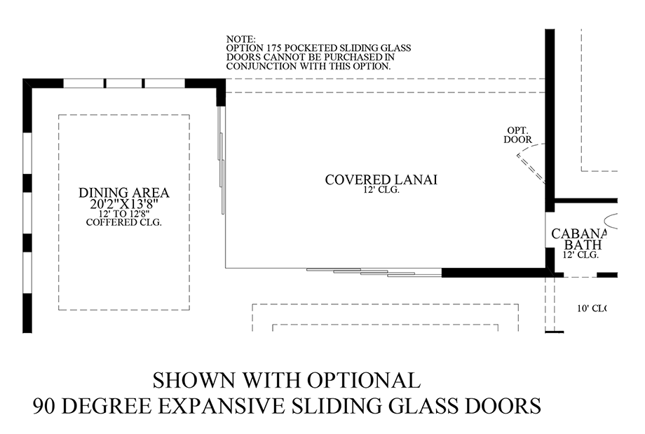 Optional 90 Degree Expansive Sliding Glass Doors Floor Plan