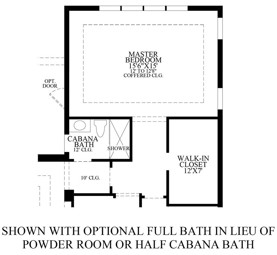 Optional Full Bath ILO Powder Room Floor Plan
