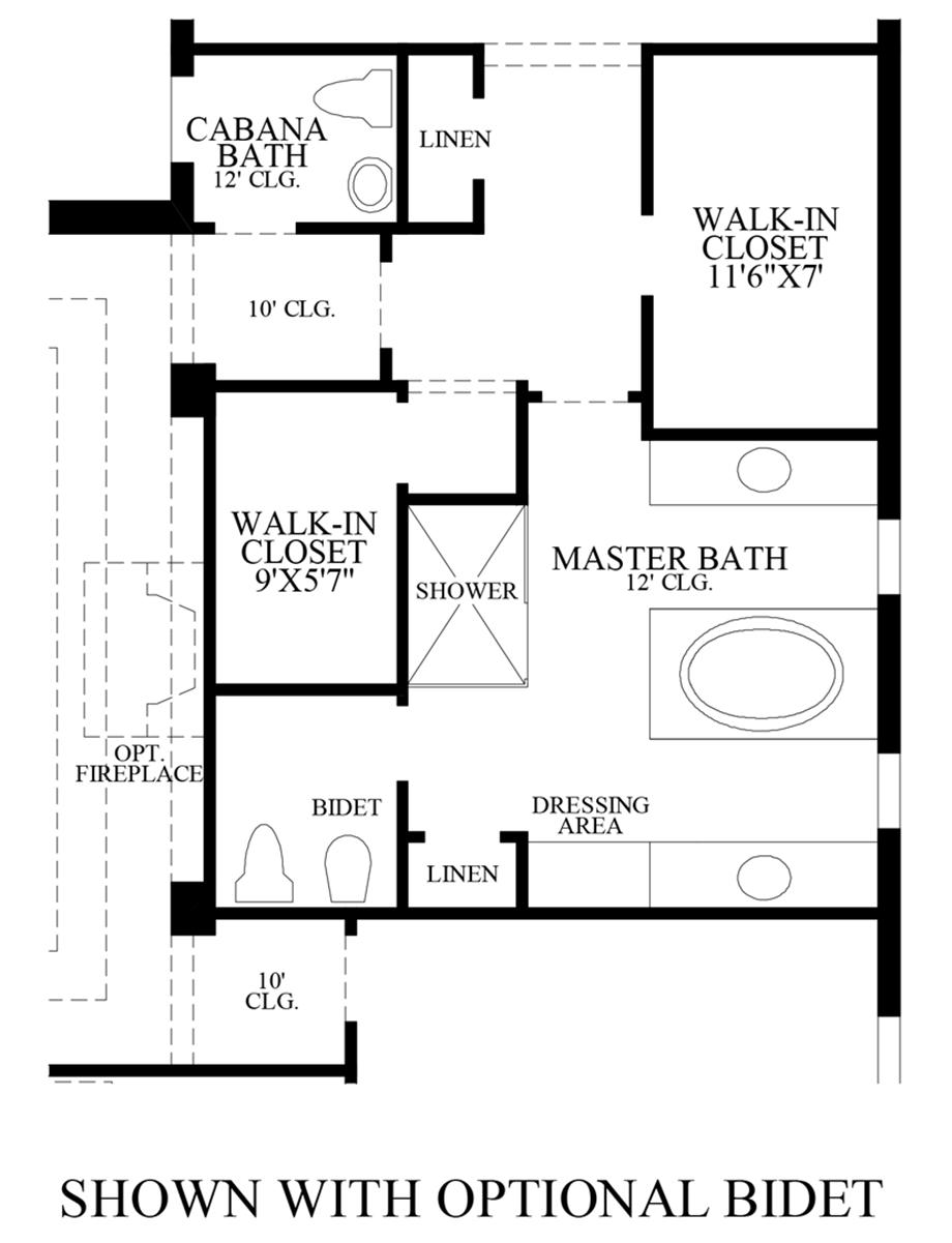 Optional Bidet Floor Plan