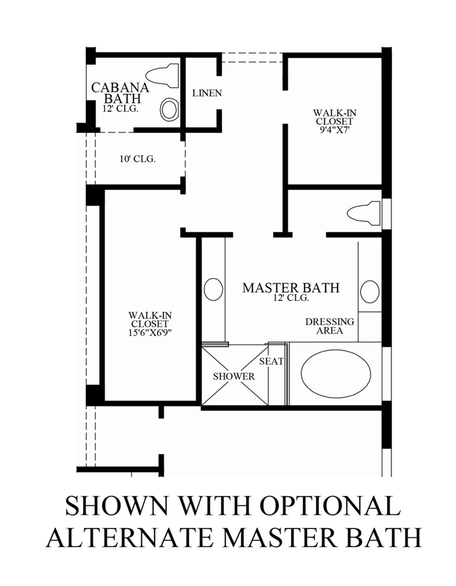 Bonita lakes estates collection quick delivery home for Master bath floor plans