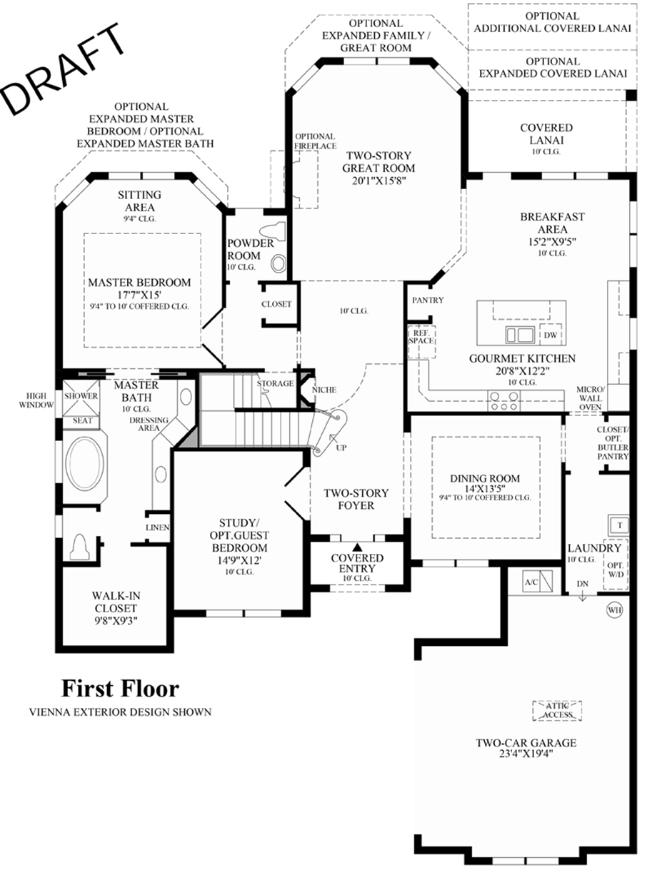 Royal palm polo heritage collection the san lucia fl for Floor plans first