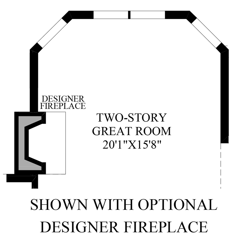 Optional Designer Fireplace
