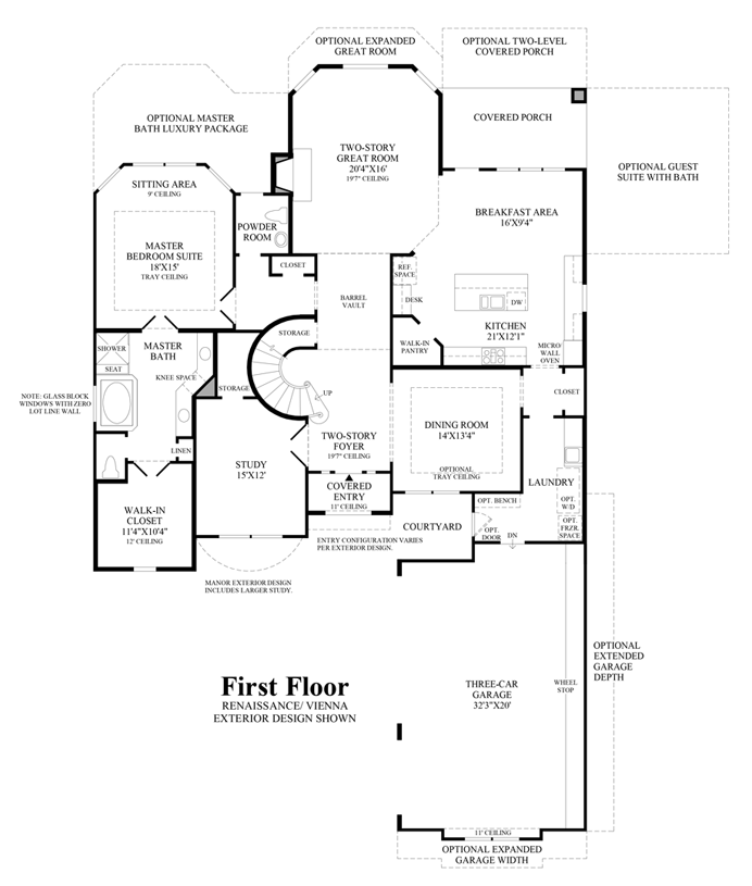 Teaching Kitchen Floor Plan the woodlands - creekside park - coronet ridge | the vanguard home